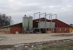 Nave de nueva construcción para la cría de porcinos