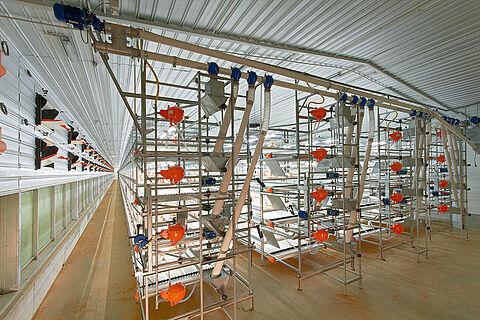 AviMax sliding broiler cage