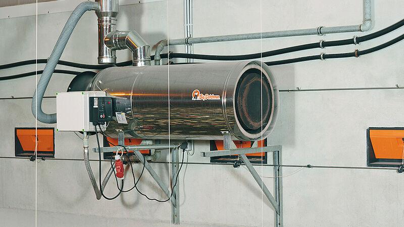 Equipamiento avícola para un consumo energético bajo: Calefactores RGA100
