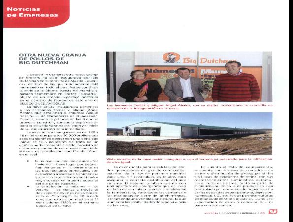 Nueva granja avicola para engorde de pollos: revista Selecciones Avícolas (Abril 2014)