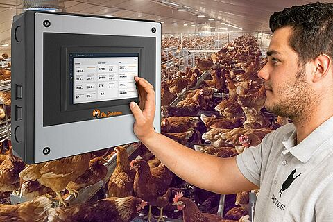 ViperTouch climate and production computer (barn, free-range and organic egg production)